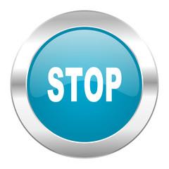stop internet blue icon
