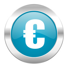 euro internet blue icon