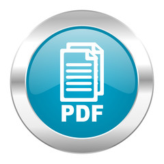 pdf internet blue icon,