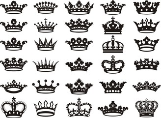 Silhouettes crowns set