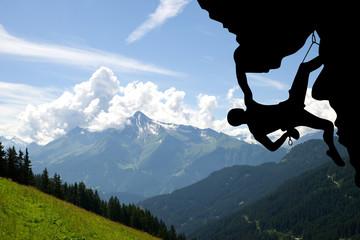 Kletterer im Zillertal - Alpen