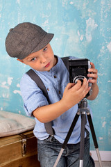 Hobbyfotograf im Retrostyle