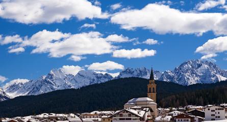 Dolomites Mountain in Winter, Italy