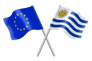 Flags: Europe and Uruguay