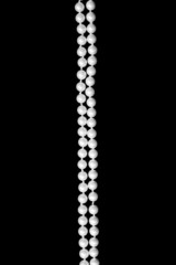 Double thread of pearls