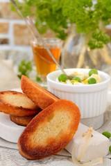 Slice toast bread background texture