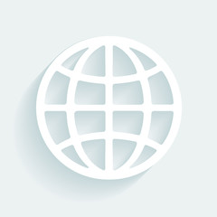 Symbol globe made of paper