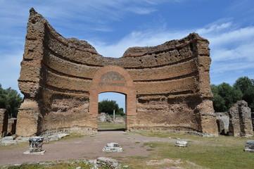 rovine romane di villa ariana italia