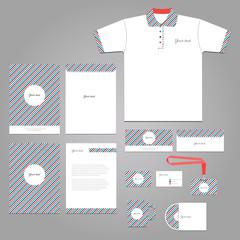 Vector stationery corporate identity  branding template