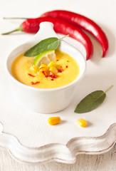 Corn soup.