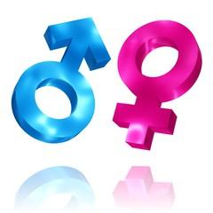 Symbole für Männlich und Weiblich