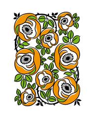 Beautiful floral pattern. Vector illustration