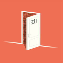 There is no exit. Vector illustration.