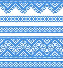 embroidered good like handmade cross-stitch ethnic