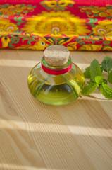 Oil in a little bottle
