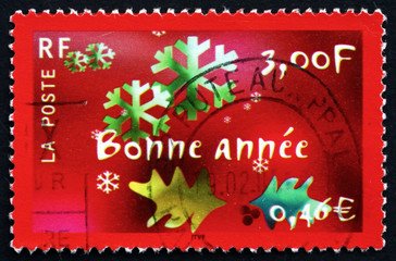 Postage stamp France 2000 Snowflakes, Happy New Year