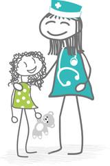 Enfant et infirmière
