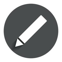 Pencil sign icon. Edit content button.