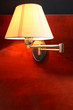 Retro style lamp on the wall.