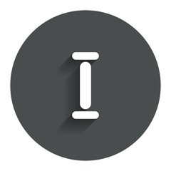 Roman numeral one icon. Roman number one sign.