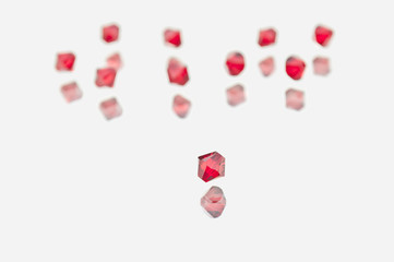 Collection of Red Swarovski Double Cones