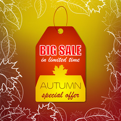 Autumn sale vector background