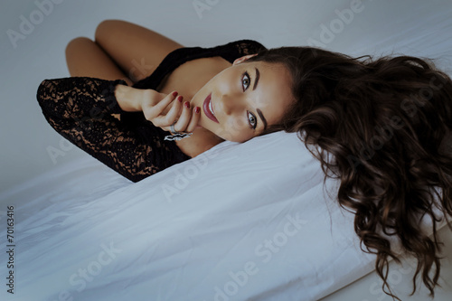 canvas print picture woman with long hair