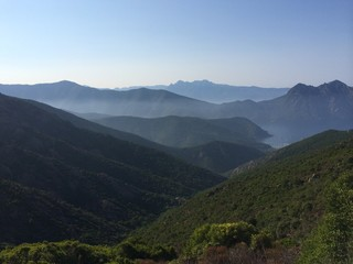 corsican moutains in the morning