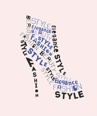 Fashion shoe from words