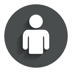 User sign icon. Person symbol.
