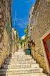 Hvar old stone street view