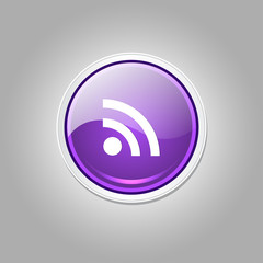 RSS Rounded Rectangular Vector Purple Web Icon Button