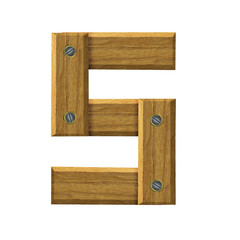 Letter S in created in wood