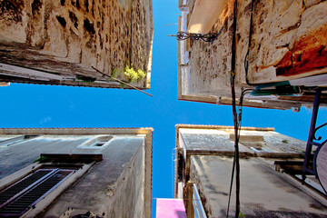 Narrow dalmatian street in Trogir
