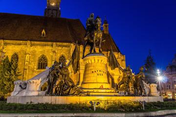 Monument to Mathias Rex in Cluj-Napoca, Romania