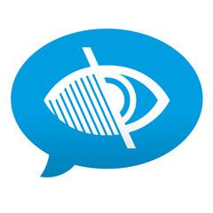 Etiqueta tipo app azul comentario simbolo ceguera