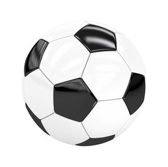 football (soccer ball) isolated on white