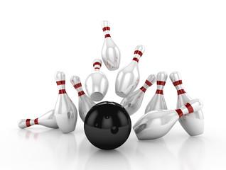 Bowling concept. 3d Illustration