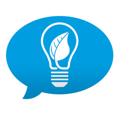 Etiqueta tipo app azul comentario simbolo energia limpia