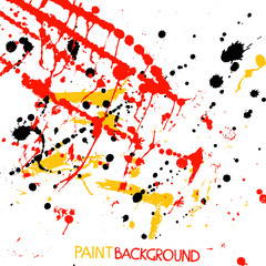 Bright Paint Stains. Abstract Vector Background