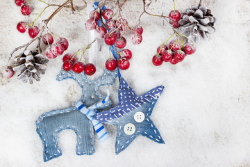 Christmas reindeer and star
