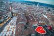 Leinwandbild Motiv San Valentino a Verona, la città degli innamorati