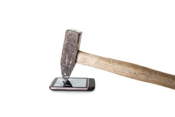 Zerbrochenes Glas eines Handys