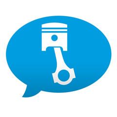 Etiqueta tipo app azul comentario simbolo motor
