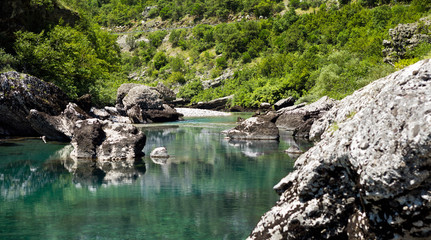Landscape of mountain stream