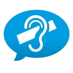 Etiqueta tipo app azul comentario simbolo sordera