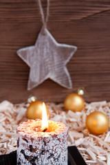 Weihnachten - Kerze - Stern