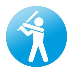 Etiqueta redonda beisbol