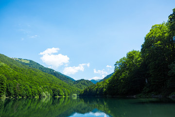 Beautiful landscape with turquoise lake
