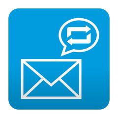 Etiqueta tipo app azul simbolo reblog